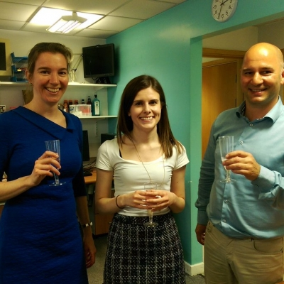May 2017 Louise has passed her viva!